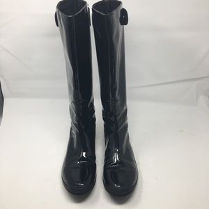 Colé Haan Patent Leather Waterproof Zipper Boots